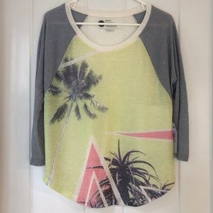 Roxy Palm Displaced Raglan Tee